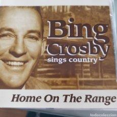 CDs de Música: BING CROSBY - SINGS COUNTRY: HOME ON THE RANGE (DYNAMIC, UK, 2004). Lote 277103198