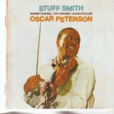 CDs de Música: STUFF SMITH – STUFF SMITH & OSCAR PETERSON SELLO: POLL WINNERS RECORDS – PWR 27222. Lote 277128278