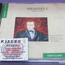 CDs de Música: BRAHMS J. - HUNGARIAN DANCES / SYMPHONY Nº 3, CONCERTO FOR CELLO AND VIOLIN - CD. Lote 277128968