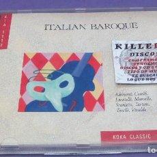 CDs de Música: ITALIAN BAROQUE - ALBINONI, CORELLI, LOCATELLI, MARCELLO, SCARLATTI, TARTINI, TORELI, VIVALDI - CD. Lote 277130368