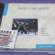 CDs de Música: PIANO CONCERTOS - BEETHOVEN, GRIEG, MOZART, SCHUMANN, TCHAIKOVSKY - CD. Lote 277131068