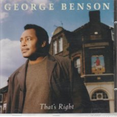CDs de Música: GEORGE BENSON – THAT'S RIGHT SELLO: GRP – GRP 98242. Lote 277138173