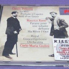 CDs de Música: CLAUDE DEBUSSY / MAURICE RAVEL / CARLO MARIA GIULINI - CD. Lote 277141103