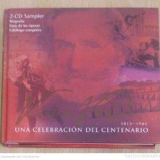 CDs de Música: VERDI (VIVA VERDI! - UNA CELEBRACIOM DEL CENTENARIO 1813 - 1901) 2 CD'S LIBRO 2000. Lote 277142533