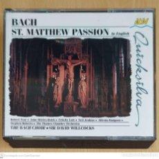 CDs de Música: JOHANN SEBASTIAN BACH (ST. MATTHEW PASSION) 3 CD'S 1994 IN ENGLISH. Lote 277143193