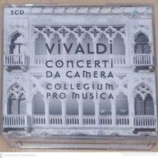 CDs de Música: ANTONIO VIVALDI, COLLEGIUM PRO MUSICA (CONCERTI DA CAMERA) 3 CD'S 2012. Lote 277143353