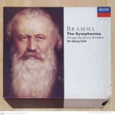 CDs de Música: JOHANNES BRAHMS - CHICAGO SYMPHONY ORCHESTRA, SIR GEORG SOLTI (THE SYMPHONIES) 4 CD'S LIBRO 1996. Lote 277143713