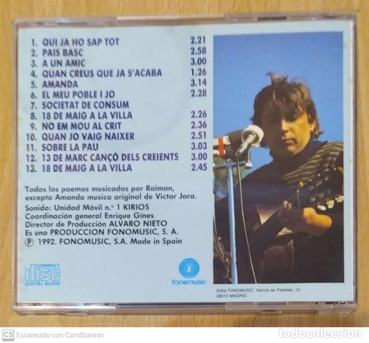 CDs de Música: RAIMON (CAMPUS DE BELLATERRA) CD 1992 FONOMUSIC - Foto 2 - 277174658
