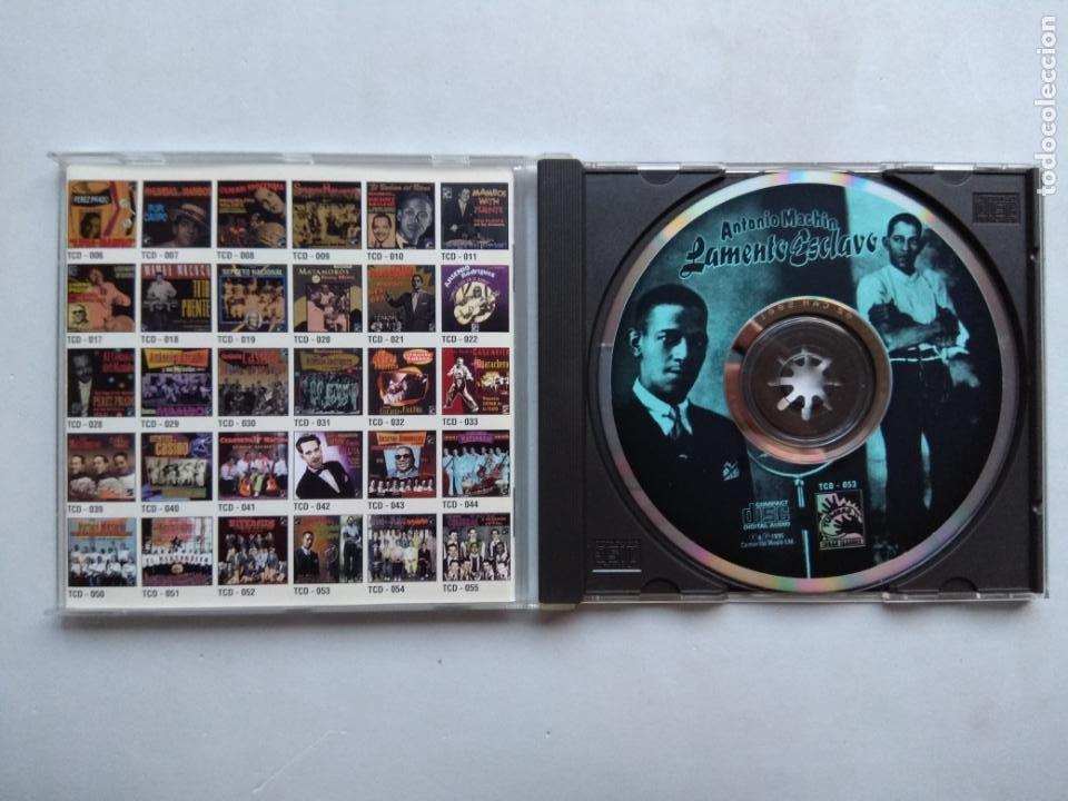 CDs de Música: ANTONIO MACHÍN. LAMENTO ESCLAVO. CD TUMBAO TCD-053. EU 1995. ARMANDO VALDESPÍ. JULIO ROQUÉ. - Foto 2 - 277175693