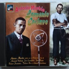 CDs de Música: ANTONIO MACHÍN. LAMENTO ESCLAVO. CD TUMBAO TCD-053. EU 1995. ARMANDO VALDESPÍ. JULIO ROQUÉ.. Lote 277175693
