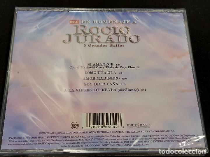 CDs de Música: EN HOMENAJE A ROCIO JURADO / 5 GRANDES ÉXITOS / REVISTA HOLA / PRECINTADO. - Foto 2 - 277176883