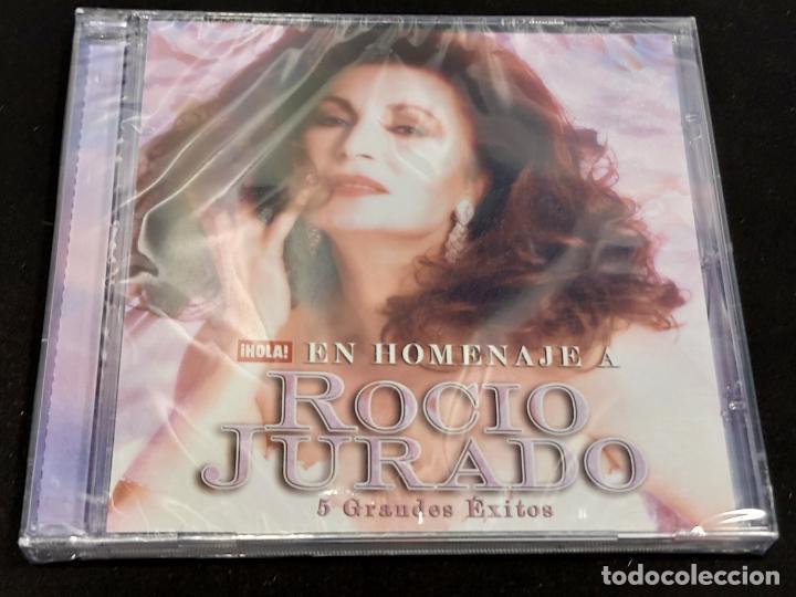 EN HOMENAJE A ROCIO JURADO / 5 GRANDES ÉXITOS / REVISTA HOLA / PRECINTADO. (Música - CD's Flamenco, Canción española y Cuplé)