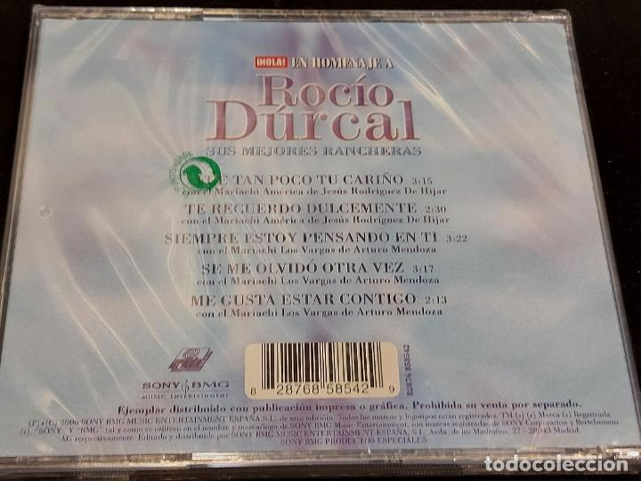 CDs de Música: EN HOMENAJE A ROCÍO DÚRCAL / SUS MEJORES RANCHERAS / REVISTA HOLA / 5 TEMAS / PRECINTADO. - Foto 2 - 277177043