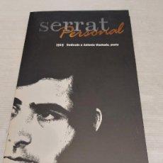 CDs de Música: SERRAT PERSONAL / 1969 / DEDICADO A ANTONIO MACHADO / CARPETA CON LIBRETO + CD / IMPECABLE.. Lote 277179288