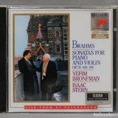 CDs de Música: CD. SONATAS FOR PIANO AND VIOLIN, OP. 78, 100 & 108. BRAHMS. STERN. BRONFMAN. Lote 277186393