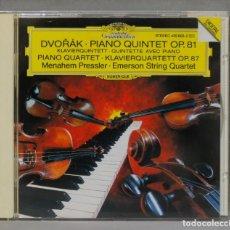 CDs de Música: CD. PIANO QUINTET OP. 81. PIANO QUARTET OP. 87. DVORAK. Lote 277186883