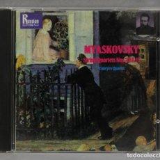 CDs de Música: CD. MYASKOVSKY. TANEYEV QUARTET. STRING QUARTETS NOS. 12 & 13. Lote 277187133