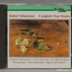 CDs de Música: CD. SCHUMANN. COMPLETE DUO WORKS. Lote 277187403