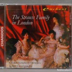 CDs de Música: CD. THE STRAUSS FAMILY IN LONDON. GEORGIADIS. Lote 277187563