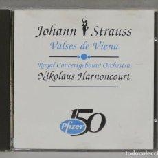 CDs de Música: CD. STRAUSS. VALSES DE VIENA. HARNONCOURT. PFIZER. Lote 277187673