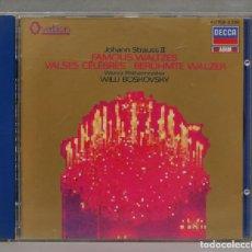 CDs de Música: CD. FAMOUS WALTZES. STRAUSS. BOSKOVSKY. Lote 277187903