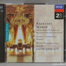 CDs de Música: 2 CD. RADETZKY MARCH. Lote 277188323
