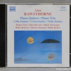 CDs de Música: CD. PIANO QUINTET. PIANO TRIO. CELLO SONATA. CONCERTANTE. VIOLA SONATA. RAWSTHORNE. Lote 277188808