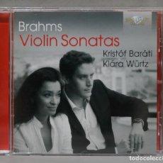 CDs de Música: CD. BRAHMS. VIOLIN SONATAS. BARATI. WURTZ. Lote 277188993