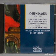 CDs de Música: CD. HAYDN. ROBERTI. PIANO CONCERTOS H.XVIII/4&11. DIVERTIMENTO H.XIV/4. CONCERTINO H.XVIII/F2. Lote 277189208