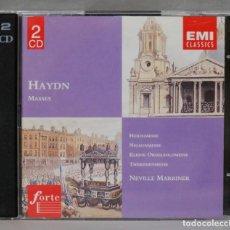 CDs de Música: 2 CD. HAYDN. MASSES. MARRINER. Lote 277189293