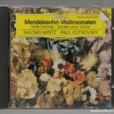 CDs de Música: CD. VIOLINSONATEN. MENDELSSOHN. MINTZ. OSTROVKSY. Lote 277189428