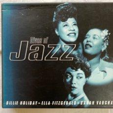 CDs de Música: DIVAS OF JAZZ (3XCD, CAJA) (BILLIE HOLIDAY, ELLA FITZGERALD, SARAH VAUGHAN). Lote 277192048