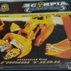 CDs de Música: CD DOBLE 2X CD ( SCORPIA CENTRAL DEL SONIDO VOL 1 PEACE LOVE & PARTY -MIXED FRANK T.R.A.X. ) 1997. Lote 277195363