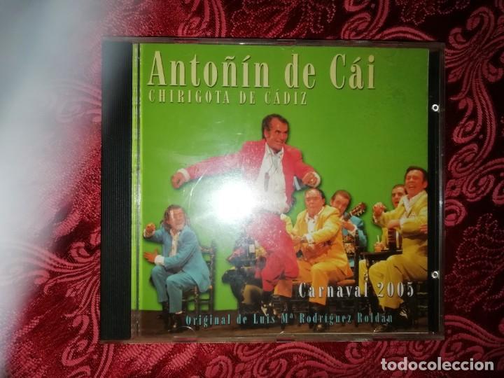 CARNAVAL DE CÁDIZ CD CHIRIGOTA ANTOÑIN DE CAI 2005 (Música - CD's Otros Estilos)