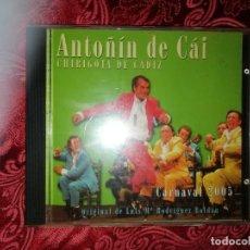CDs de Música: CARNAVAL DE CÁDIZ CD CHIRIGOTA ANTOÑIN DE CAI 2005. Lote 277211628