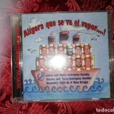 CDs de Música: CARNAVAL DE CÁDIZ CD CHIRIGOTA ALIGERA QUÉ SE VA EL VAPOR NUEVO CON PRECINTO. Lote 277211693
