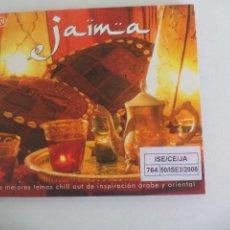 CDs de Música: JAIMA. LOS MEJORES TEMAS CHILL OUT DE INSPIRACION ARABE Y ORIENTAL. 2007. 37752 BIT MUSIC. Lote 277241843