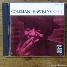 CDs de Música: COLEMAN HAWKINS - SOUL (1958) - 1984 - GUITARRA, SAXO, KENNY BURRELL. Lote 277250803