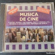 CDs de Música: MUSICA DE CINE - CUATRO BODAS Y UN FUNERAL,PRETTY WOMAN,MEMORIAS DE AFRICA (70 MINUTOS). Lote 277266503