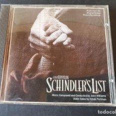 CDs de Música: SCHINDLER'S LIST (LA LISTA DE SCHINDLER) - BANDA SONORA ORIGINAL. Lote 277267858