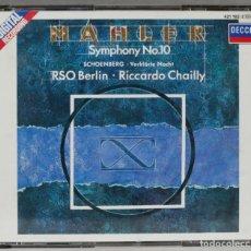 CDs de Música: 2 CD. MAHLER. SYMPHONY 10. CHAILLY. Lote 277289038