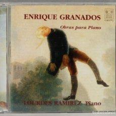 CDs de Música: CD. ENRIQUE GRANADOS. OBRAS PARA PIANO. LOURDES RAMIREZ. Lote 277289108