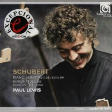 CDs de Música: 2 CD. PIANO SONATAS D.840, D.850 & 894. IMPROMPTUS D.899. KLAVIERSTÜCKE D.946. SCHUBERT. LEWIS. Lote 277290413