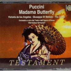 CDs de Música: 2 CD. MADAMA BUTTERFLY. PUCCINI. TESTAMENT. Lote 277294413