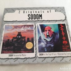 CDs de Música: SODOM -2 ORIGINALS OF SODOM (PERSECUTION MANIA / IN THE SIGN OF EVIL / OBSESSED BY CRUELTY)- (2000). Lote 277294478