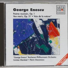 CDs de Música: CD. ENESCU. POEME ROUMAIN OP. 1 VOX MARIS, OP 31. VOIX DE LA NATURE. Lote 277294878