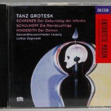 CDs de Música: CD. TANZ GROTESK. ZAGROSEK. Lote 277295003