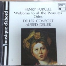 CDs de Música: HENRY PURCELL-WELCOME TO ALL THE PLEASURES ODES. Lote 277423448