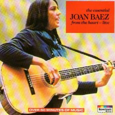 CDs de Música: JOAN BAEZ - FROM THE HEART - LIVE - CD ALBUM - 15 TRACKS - KARUSSELL / A&M RECORDS - AÑO 2001. Lote 277447748