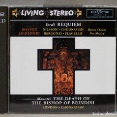 CD de Música: CD. THE DEATH OF THE BISHOP OF BRINDISI. REQUIEM. VERDI. Lote 277460733